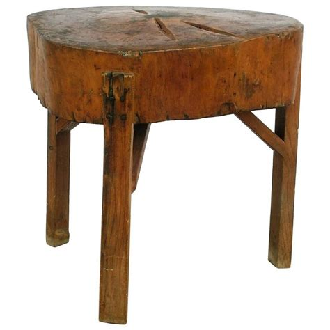 rustic butcher block table rustic butcher block table for sale at 1stdibs