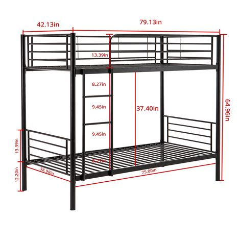 Metal Bunk Bed Ladder Metal Bunk Beds Frame Ladder Bedroom For Children