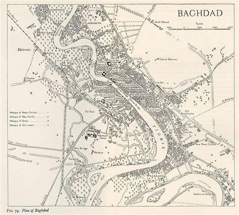 map of baghdad iraq middle east historical maps perry casta 241 eda map