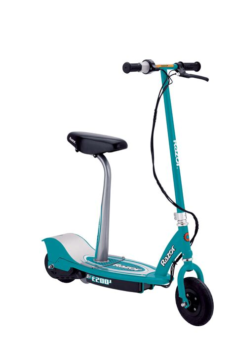 seated electric scooter razor e200s seated electric scooter teal
