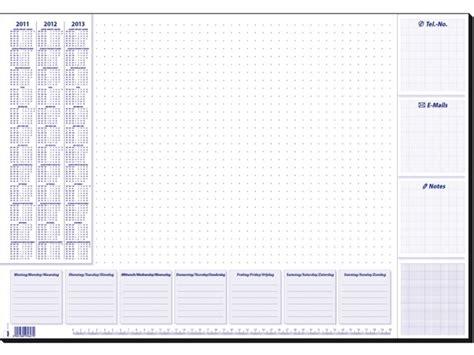 design kalender bureau bureauonderlegger design