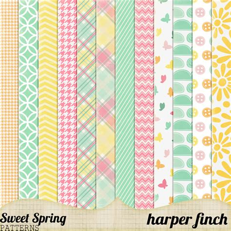 design pattern used in spring sweet spring patterns by harperfinch on deviantart
