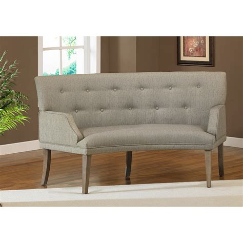 overstock settee the hilton curved graphite loveseat overstock shopping