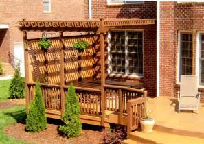 Pergola Pictures On Deck by Arbors Decks Porches By A Deck Above