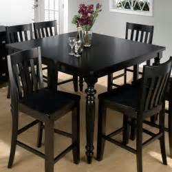 jofran new barn black counter height table and 6 chairs at