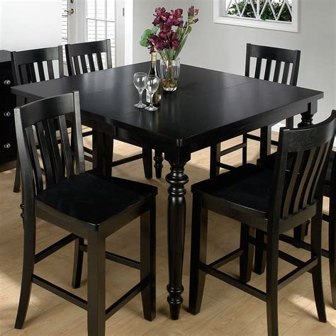 black kitchen table jofran new barn black counter height table and 6 chairs at