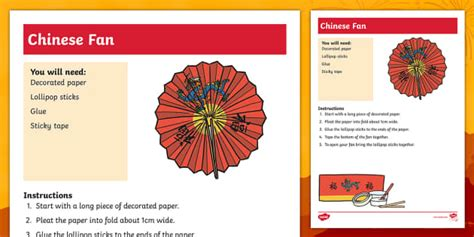 how to make a chinese fan how to make a chinese fan craft activity how to make making