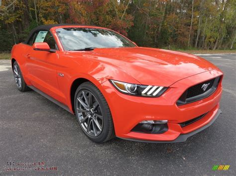 orange cars 2016 2016 ford mustang gt premium convertible in competition