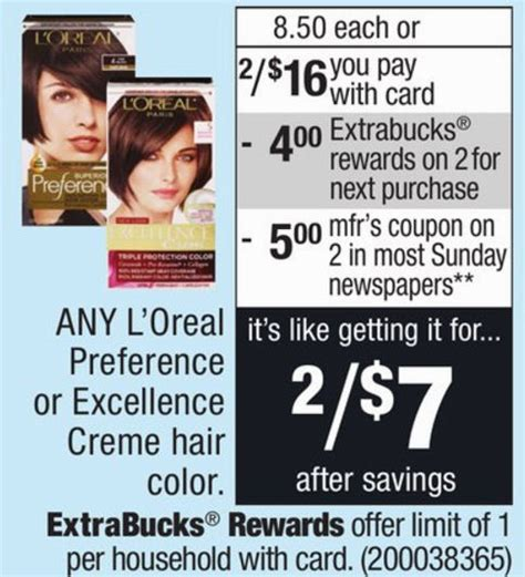 loreal hair color coupon l oreal hair color as low as 1 50 per box
