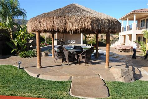 backyard palapa palapas sunset outdoor creations