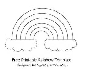 Rainbow Template Preschool rainbow template printable activity printables