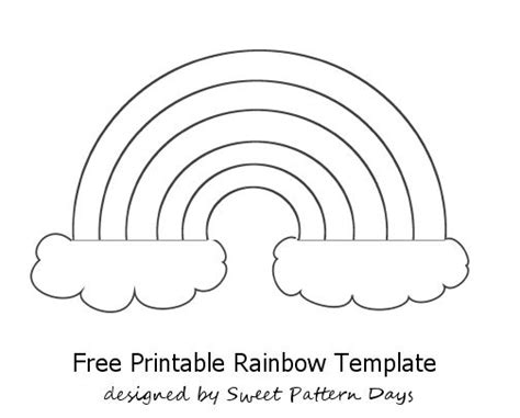 rainbow template printable preschool pinterest for