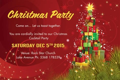 psd christmas invitation card designs  psd ms word ai apple pages publisher