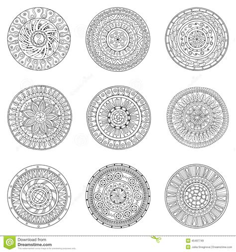 how to draw circle doodle set of circles vector logo design stock vector