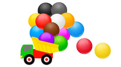 Colourful Basic Clip colors for children learning with color balls