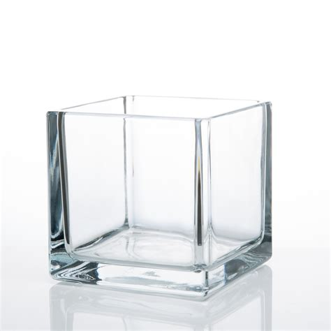 12 clear glass 5 quot square vases