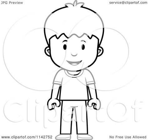 cartoon boy coloring page cartoon clipart of a black and white school boy standing