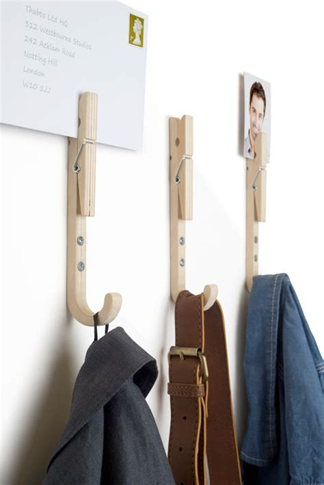 designer coat hooks a hook with a handy peg yanko design