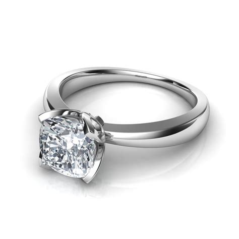 Solitaire Engagement petal like solitaire engagement ring