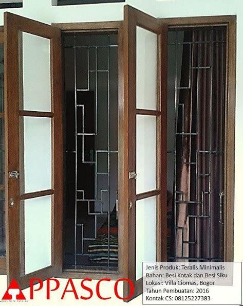 Siku Pojok Kotak teralis jendela minimalis di ciomas bogor jual kanopi tralis