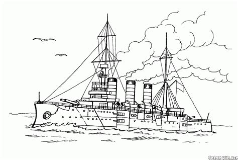 bateau de guerre 7 transport coloriages 224 imprimer - Dessin Bateau De Guerre A Imprimer