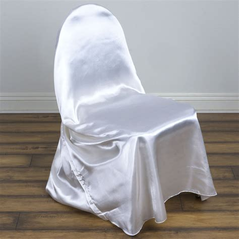 pcs satin universal chair covers wholesale wedding party ceremony supplies ebay