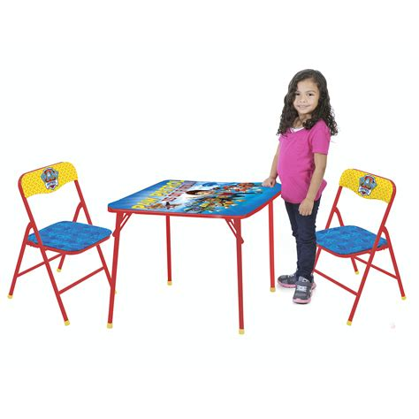 toddler folding table and chairs five folding table and chair set amazon com