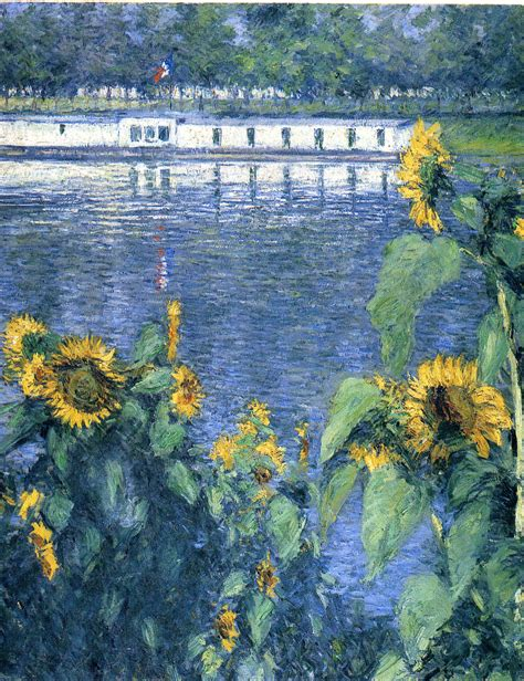 on the banks of the seine sunflowers on the banks of the seine c 1886 gustave