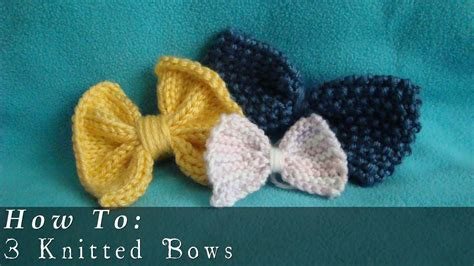 how to knit how to knit bows easy