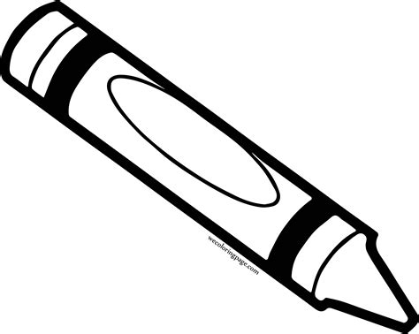 crayon coloring pages crayon pen coloring pages wecoloringpage
