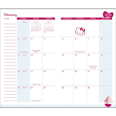 free printable hello kitty planner 7 best images of sanrio printable calendar blank 2015