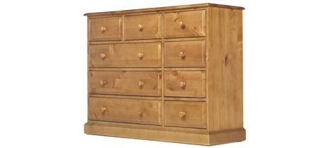 9 Chest Of Drawers by Essentials Pine 9 Drawer Chest Of Drawers Quercus Living