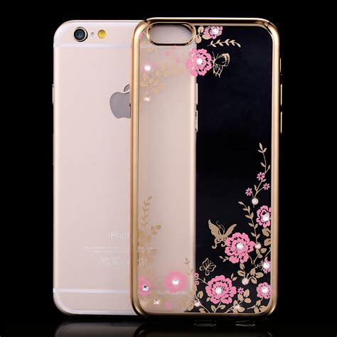 Iphone 5 5s Se Luxury Flower Casing Bling Soft Ring Cover get cheap iphone5 clear cases aliexpress
