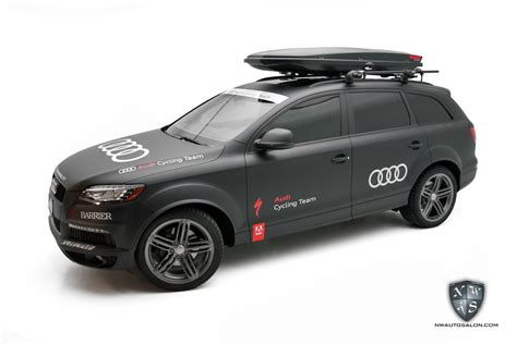 audi cycling audi cycling team q7 tdi receives a complete satin wrap
