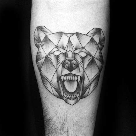 60 geometric bear tattoo designs for men manly ink ideas