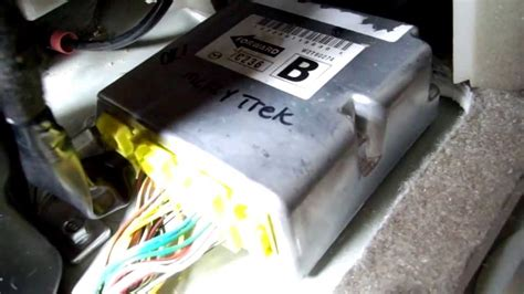 airbag deployment 2010 kia rio transmission control mazda 5 srs location and removal youtube