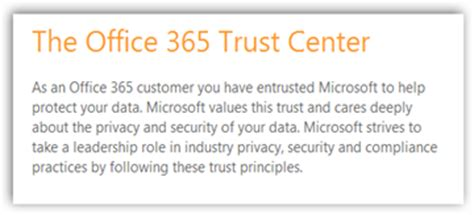 Office 365 Trust Center Microsoft Office Now Complies With Hipaa Standards Using
