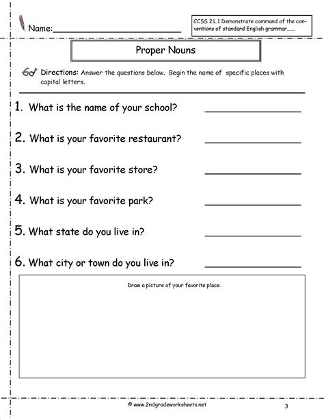 Free Common Worksheets by Free Proper Noun Worksheets Popflyboys