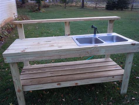 outdoor sink ideas 11 interesting garden work bench with sink photos idea
