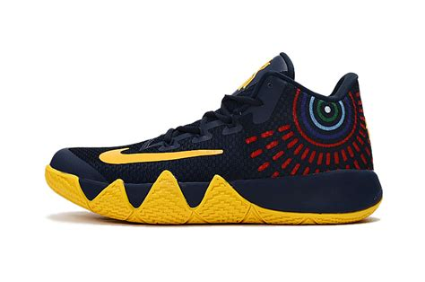 trade sneakers 2017 nike kyrie 4 blue yellow sneakers sell