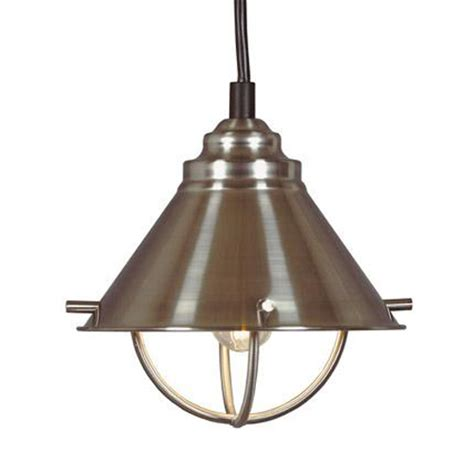 Steel Pendant Light Harbour Single Light Mini Pendant Brushed Steel Fixture Ebay