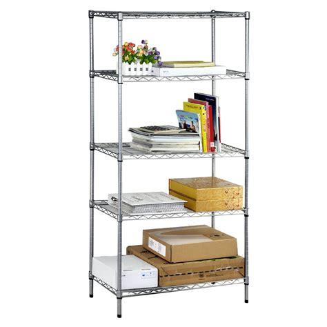 5 Shelf Wire Rack by 5 Tier Heavy Duty Steel Wire Rack Shelf Storage Shelving