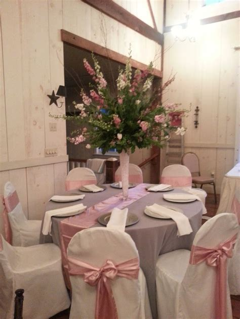 Pink And Grey Wedding Decorations