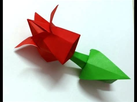 Prison Origami Flower - origami paper bud tutorial best and easy