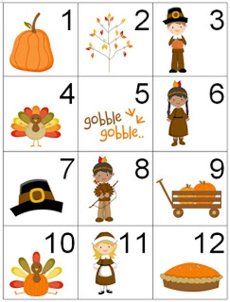 Printable Turkey Calendar Numbers | counting coconuts