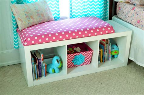 Book Shelf Bench by Diy Window Seat Bookcase With No Sew Bench Cushion