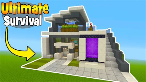 8 Tips To Make House Survivable by Minecraft Tutorial How To Make The Ultimate Modern