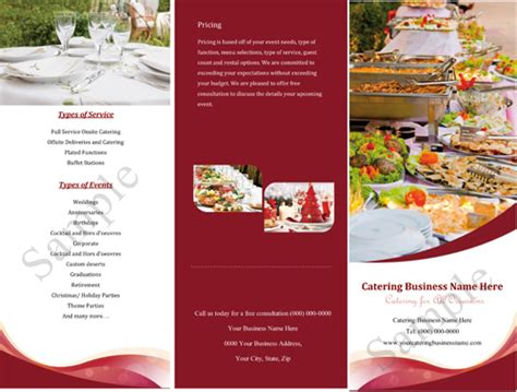 catering brochure templates catering companies for quotes quotesgram