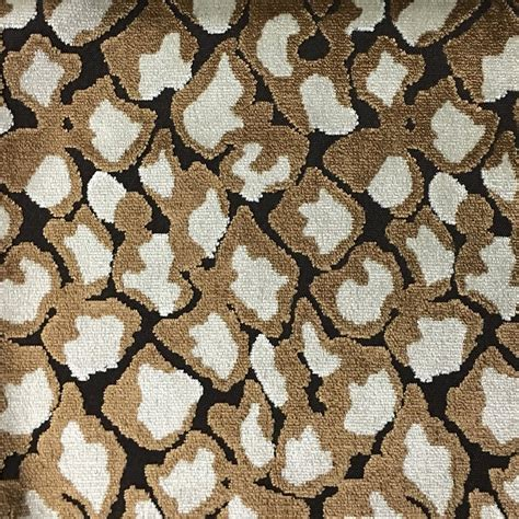 leopard upholstery fabric hendrix leopard pattern cut velvet upholstery fabric by