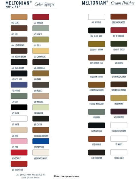 meltonian color chart 90 best shoemaking supplies images on bags
